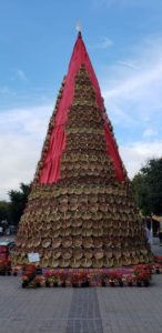 Tehuacán, Puebla alberga el árbol navideño más alto realizado con 800 canastas