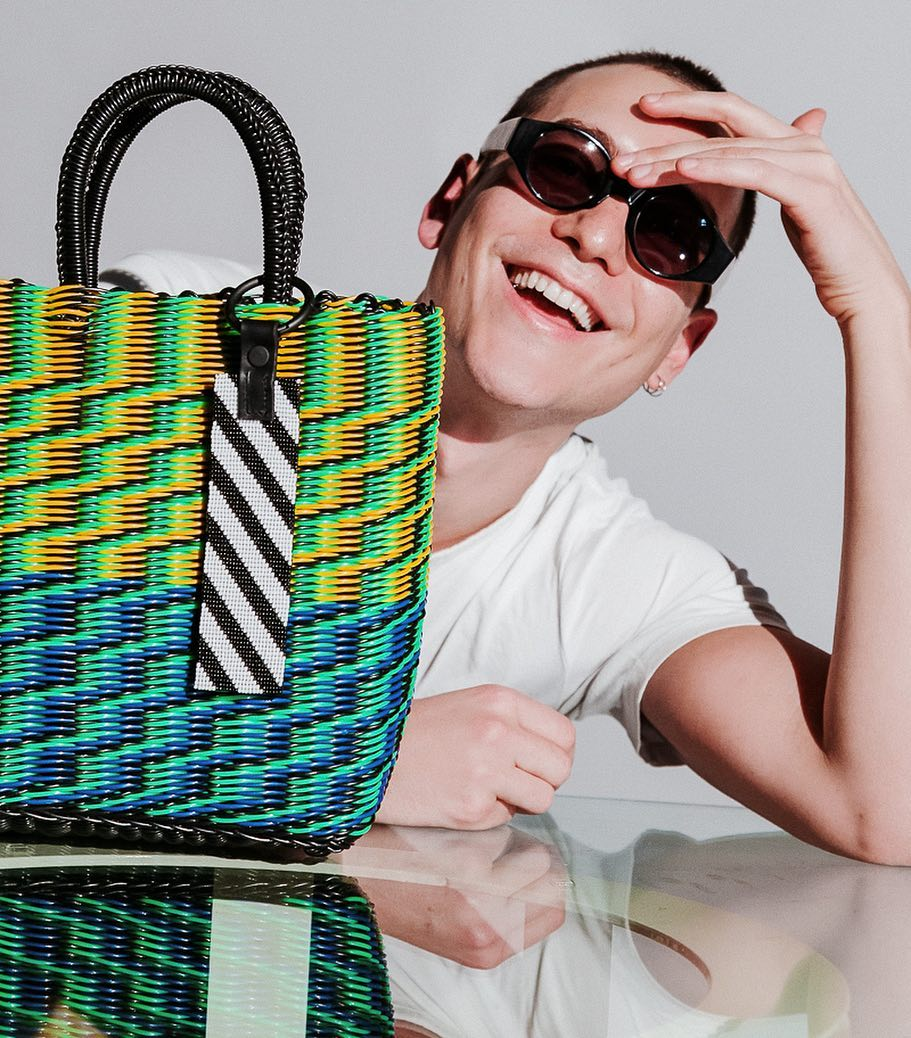 TRUSS, tote bag, hand woven, bags woven technique